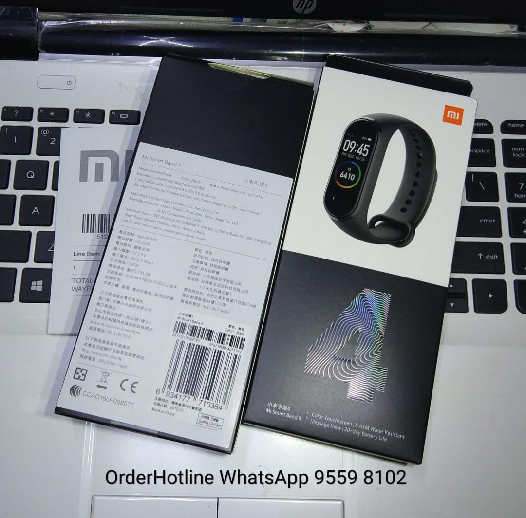 Black Xiaomi Mi Band 4. Brand new. 小米手環4