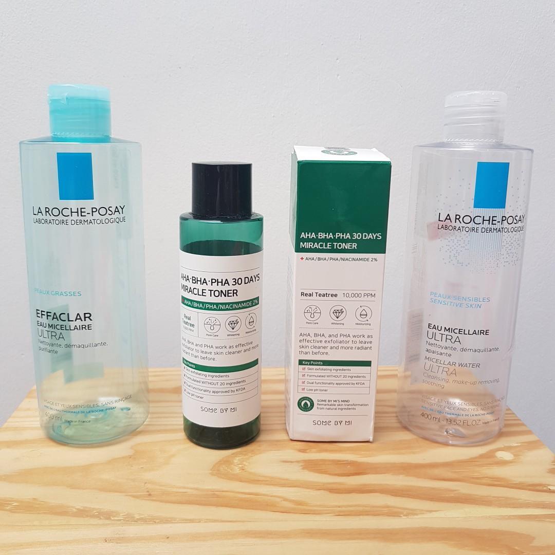 Botol kosong skincare untuk properti shelfie (The Ordinary, Huxley, Cosrx, La Roche Posay, Somebymi)