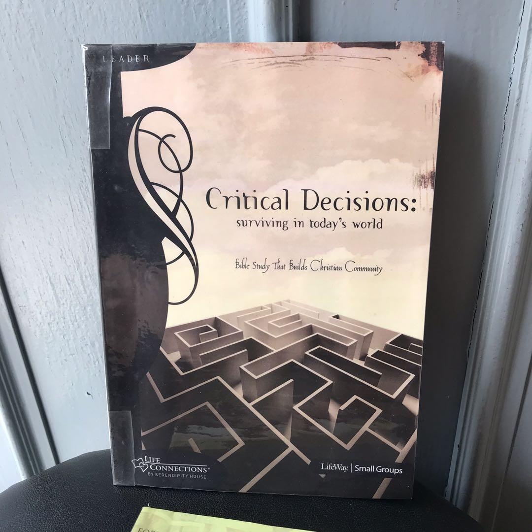 Christian Books - Critical Decisions, Bible Study, Mercy Moves Mountains