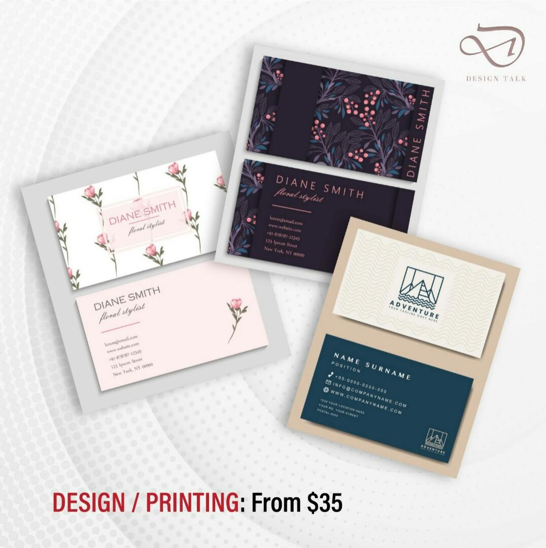 DESIGN + PRINT NAMECARD / FLYER / POSTER