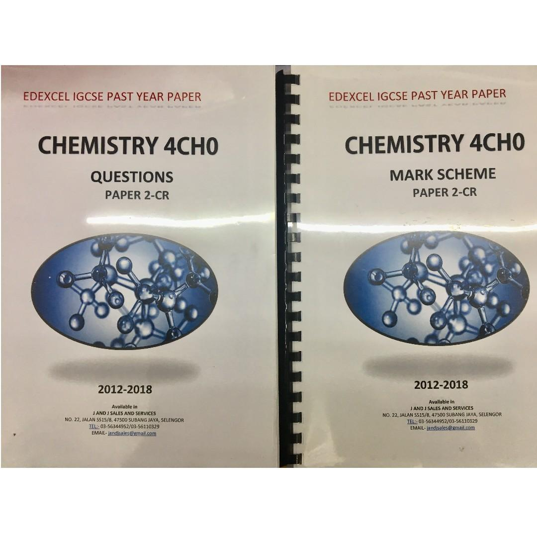 Edexcel IGCSE Past Year Papers (BIO/CHEM) on Carousell