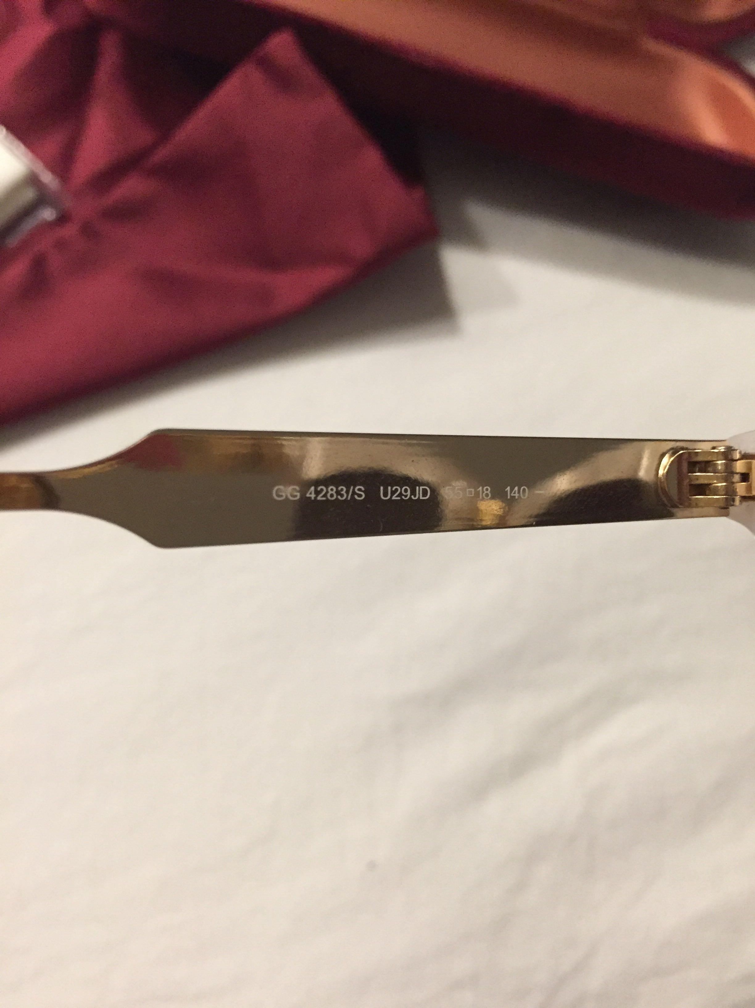 Gucci White Gold Mother of Pearl cat eye sunglasses