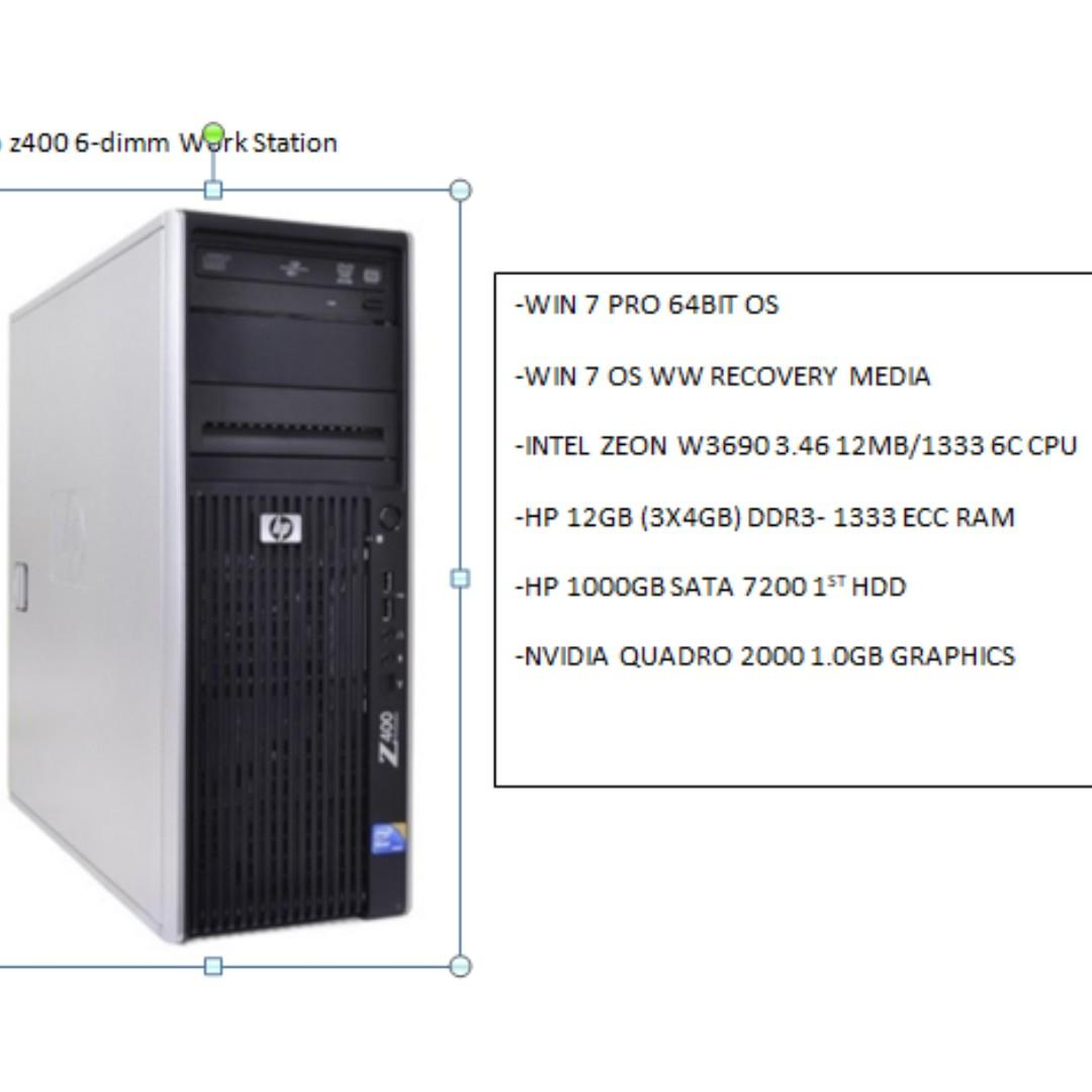 HP Z400- can be used as a server, Electronics, Computers