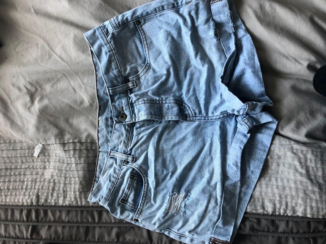 Huffer high waist denim shorts size 10