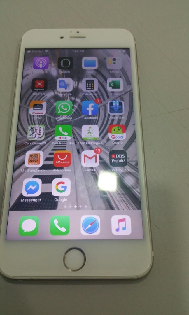 iPhone 6 Plus 64 GB fingerprint and front camera not w on