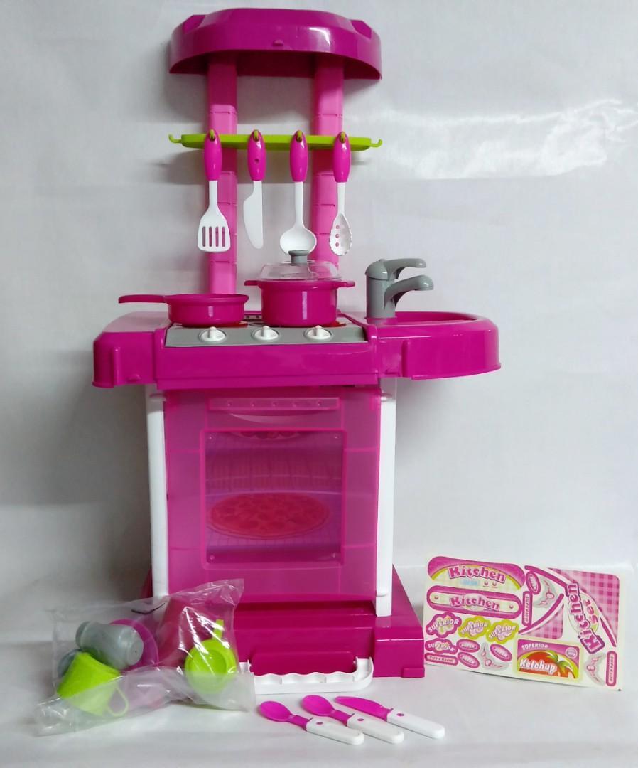 Mainan Kitchen Set Masak Masakan Anak Perempuan Toys Collectibles Mainan Di Carousell