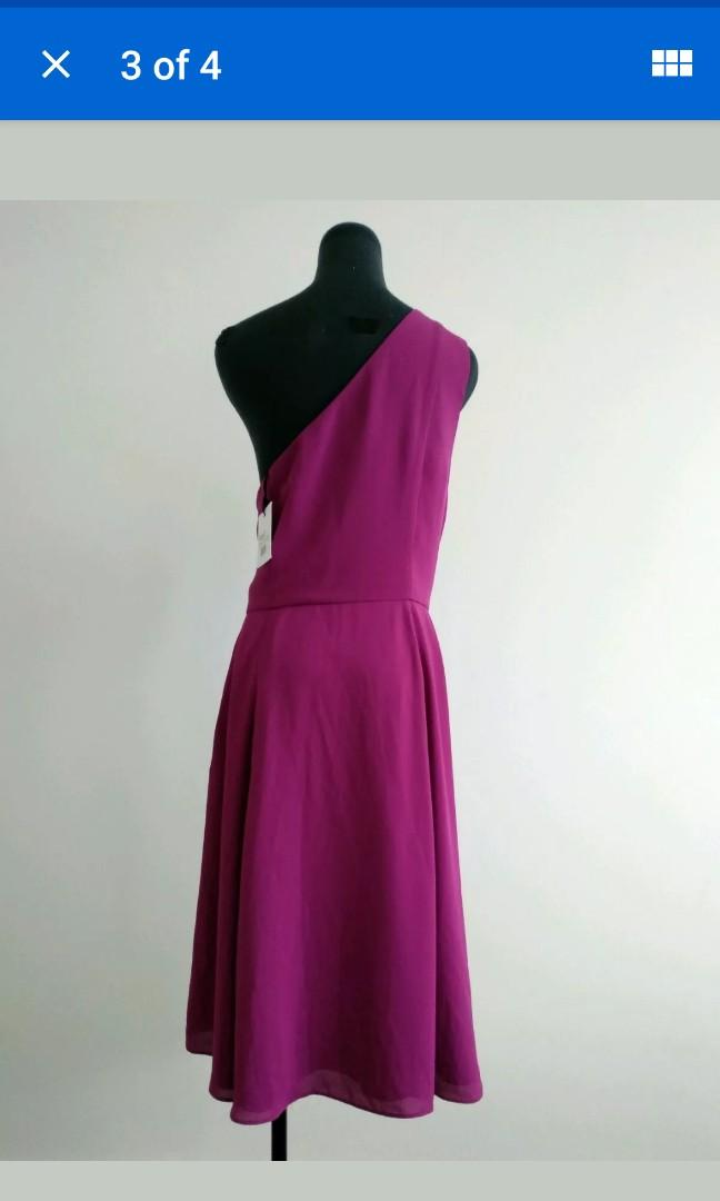 New Fame and Partners one shoulder purple dress size 18