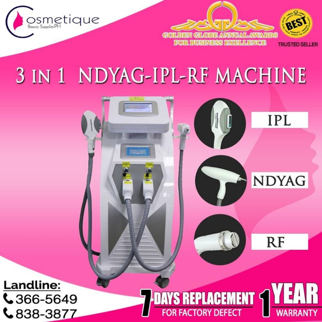 Nurse Trainor! 3 in 1 RF NDYAG Black Doll Treatment IPL
