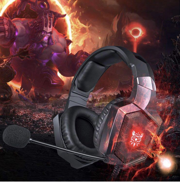 ONIKUMA Gaming Headset - Updated K8 Headset Gaming for PS4