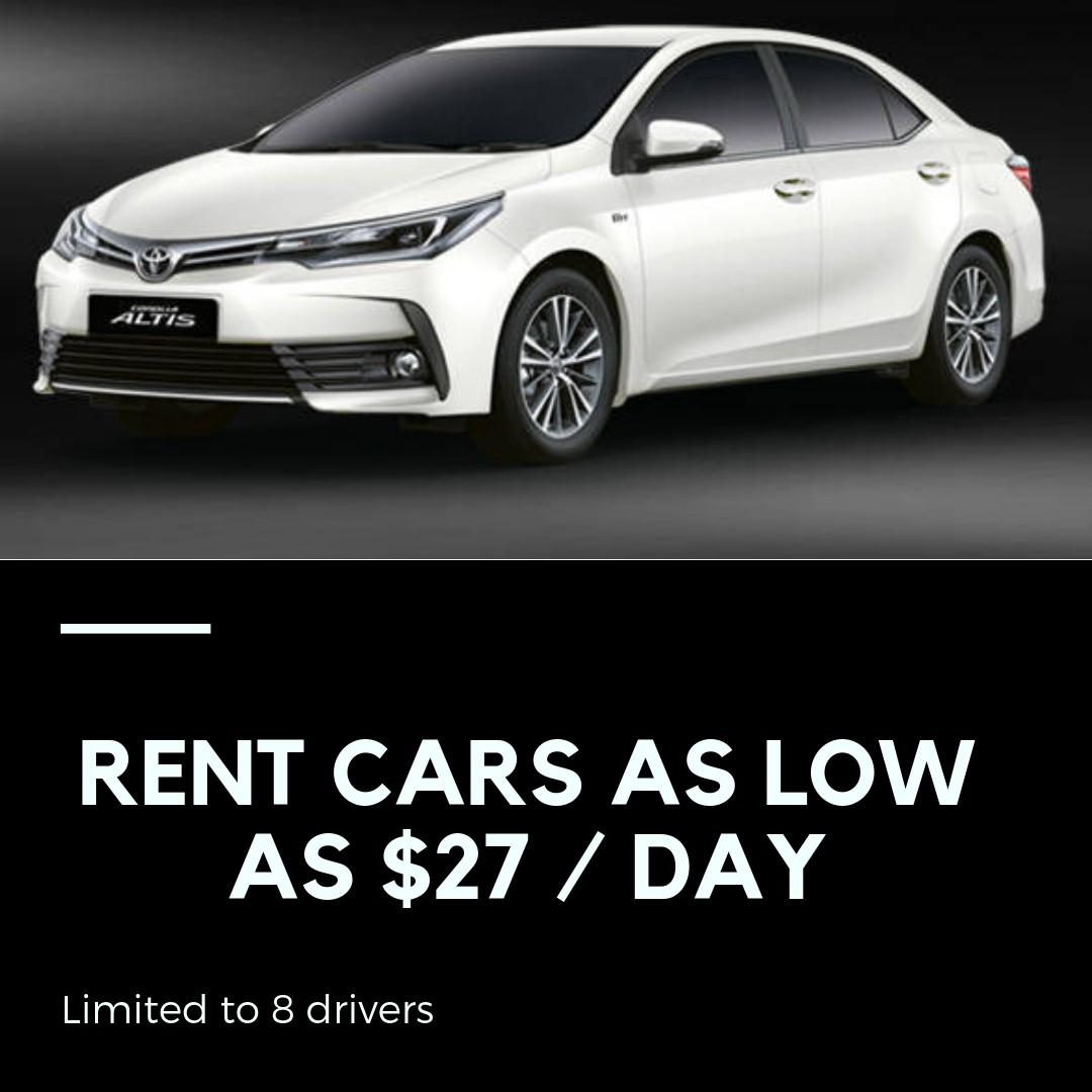 RENT CAR as Low As $27/day