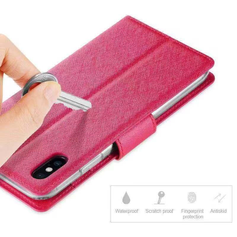 Scratch proof high quality matetial flip pouch case
