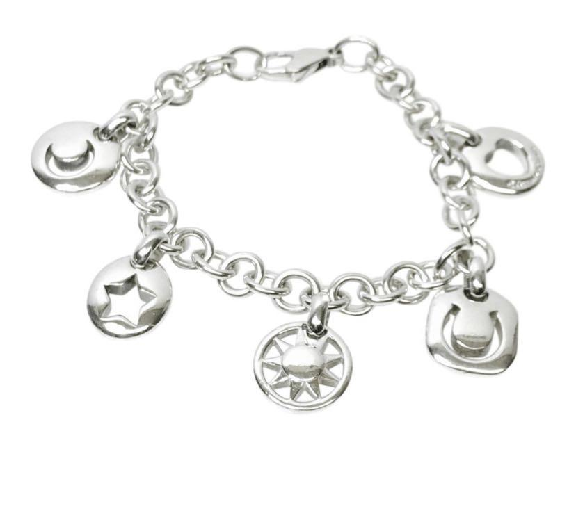 dad9cced312f0 100% Authentic Tiffany & Co. Stencil Charms Bracelet with Heart ...