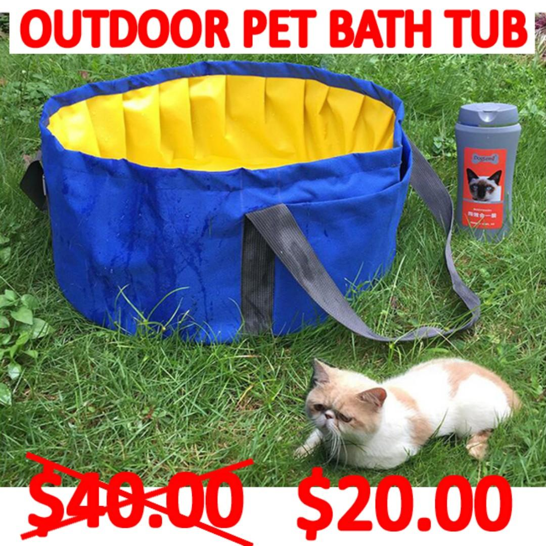TPE051 Brand New Travel Pet Bath Tub Dog Pool Outside Clean Cat Pool With Handle (Stock Clearance Sales)