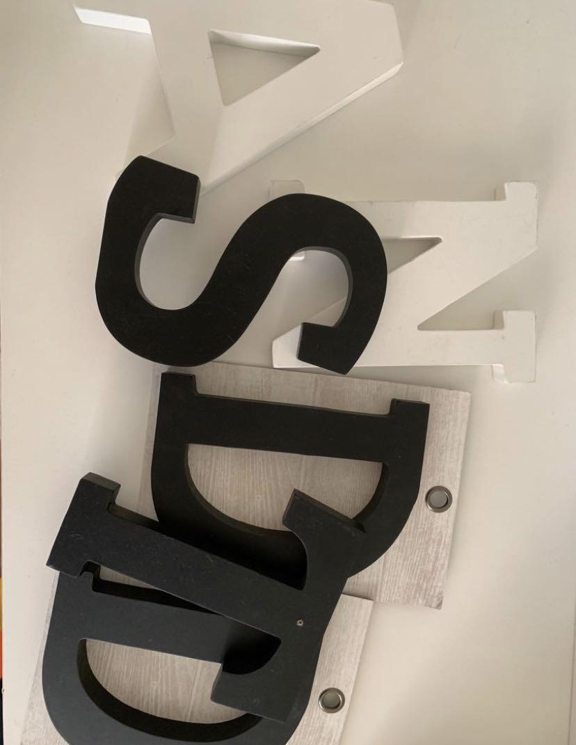 TYPO LETTER DECOR - $5 for all or FREE with any purchase!