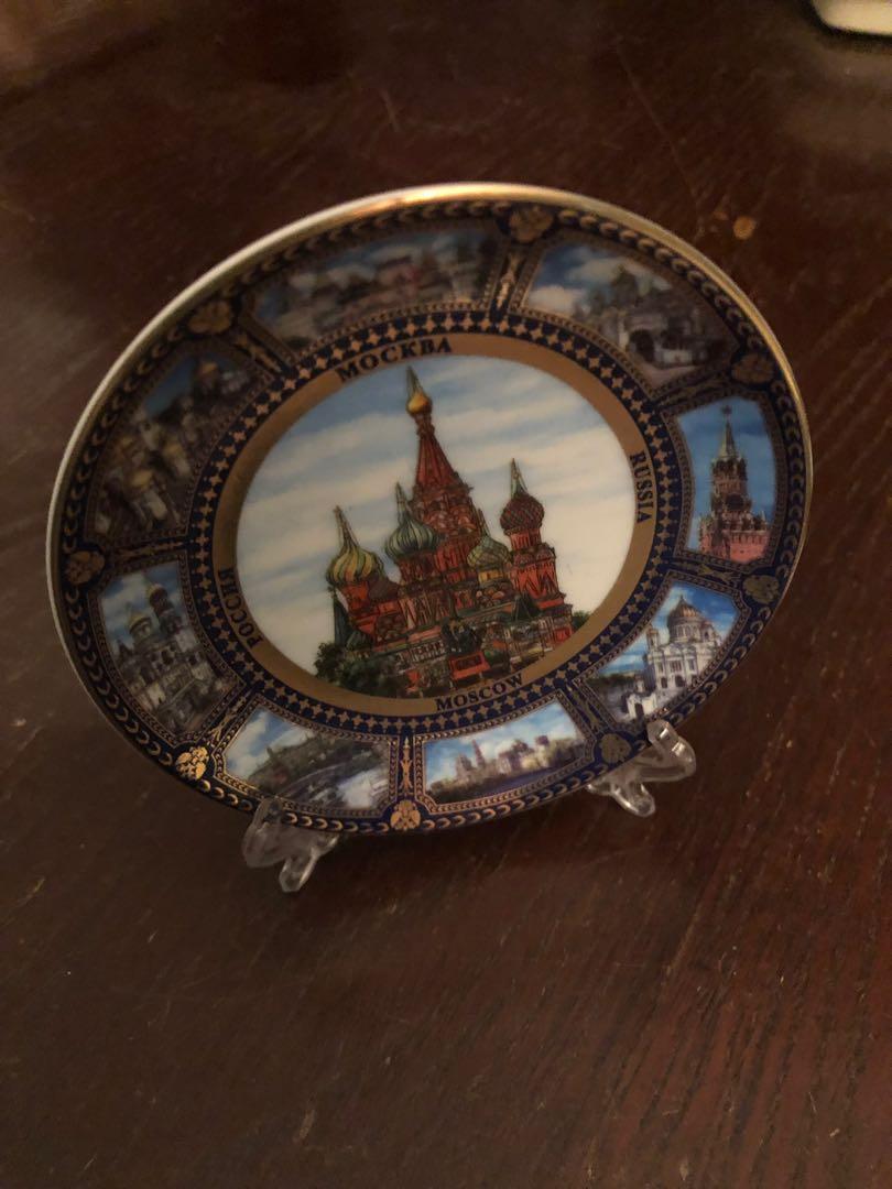 Vintage Plated Image of Russian Kremlin