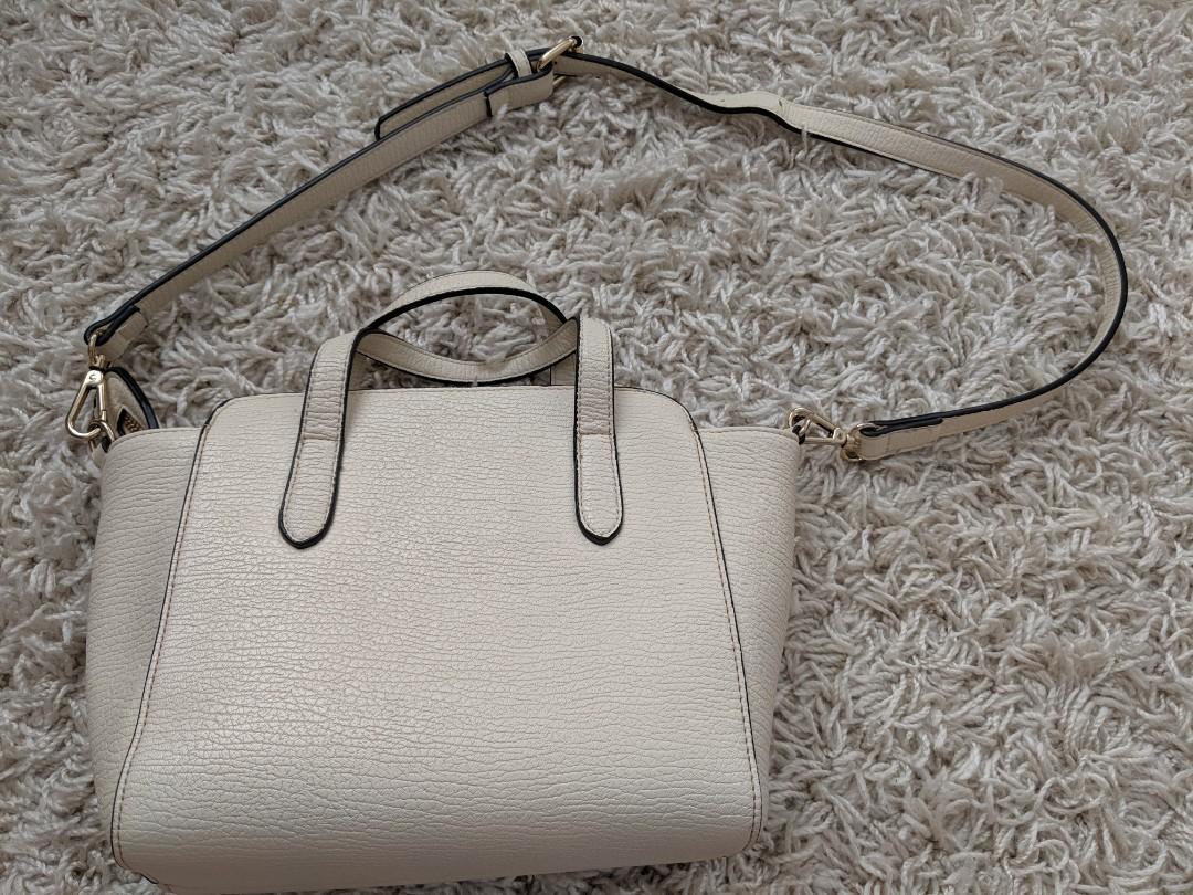 White / ivory satchel crossbody shoulder purse handbag