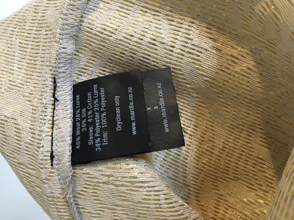 Wool/silk/lurex blend dress with three different textures