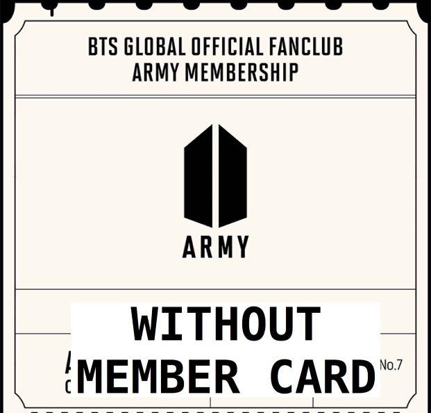 [WTS] BTS GLOBAL OFFICIAL FANCLUB ARMY MEMBERSHIP KIT WOTHOU MEMBER CARD