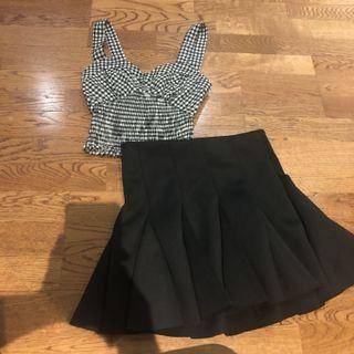 Crop top+ tennis skirt