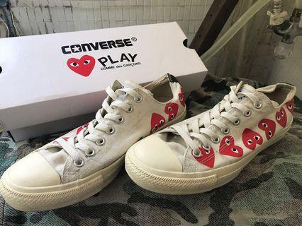 (最終降價)CDGxConverse 米白 帆布鞋
