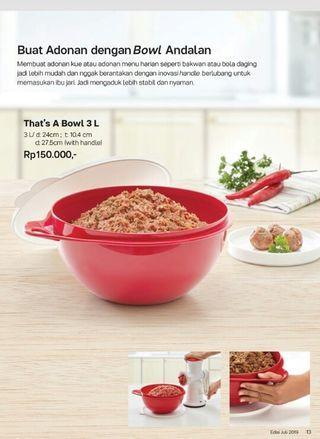That's a bowl 3 lt