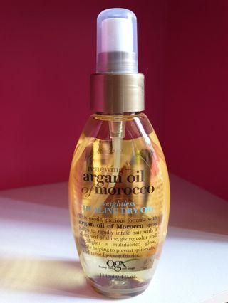 Argan Oil - OGX Argan Oil of Morocco Weightless Healing Drying Oil