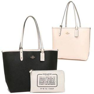 Coach reversible city tote shoulder bag
