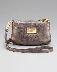 Marc by Marc Jacobs Percy Metallic Crossbody in Pewter