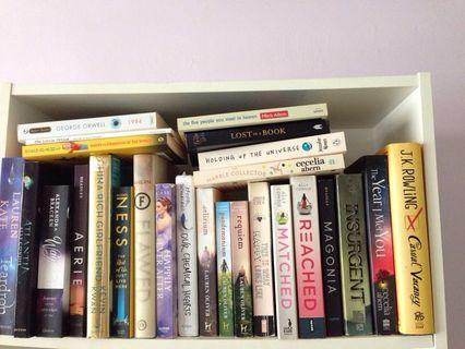Young Adult, Fiction and Literature Books RM10-25 (Some are new)