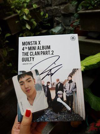 Album Monsta X The Clan Part.2 Guilty: Innocent Ver (Jooheon Sign)
