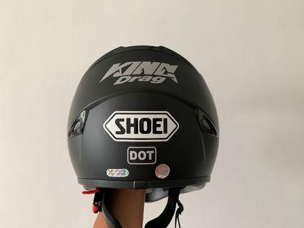 Nenki 310 matte black helmet