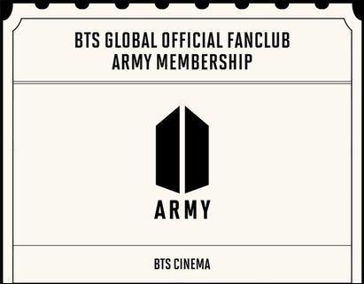 BTS GLOBAL OFFICIAL FANCLUB ARMY MEMBERSHIP