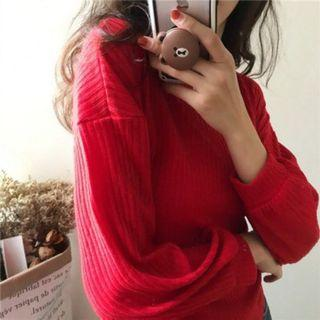 Red knitted tops