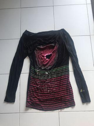 Desigual S cotton long sleeve top