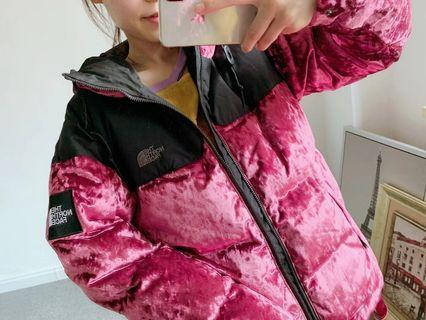🎉🎉🎉 The North Face 對比拼接羽絨夾克 羽絨外套 男女同款  T93V39D4S #for her valentine gift