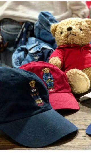 🐻 🇺🇸 Ralph Lauren Polo Bear 小熊帽子 棒球帽 老帽 司機帽  #for her valentine gift