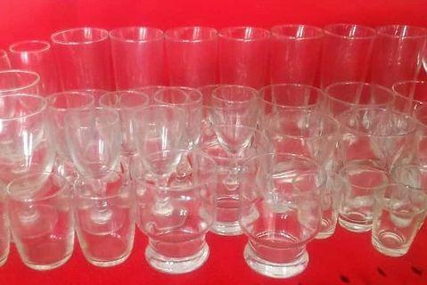 Bundle of glasses in various sizes
