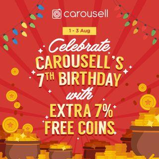 Celebrate Carousell's 7th Birthday with 7% Free Coins