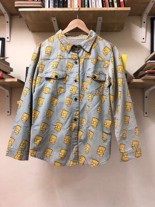 Bart Simpson denim shirt