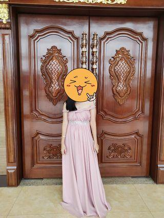 Pink with Gem Infinity Dress