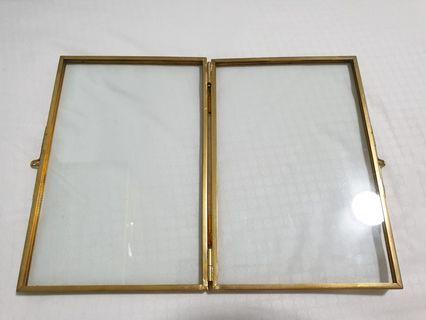 gold clear photo frame