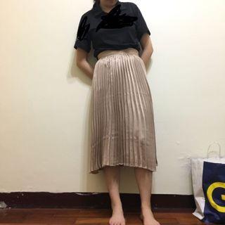 Pazzo 微光澤百褶裙