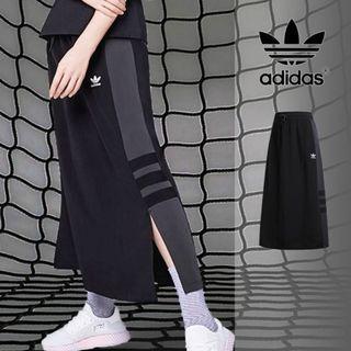 adidas側邊開衩長裙
