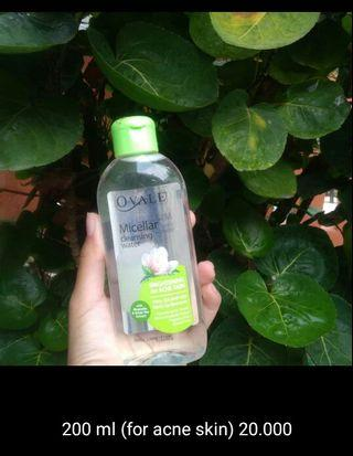 ovale Micellair water for acne skin