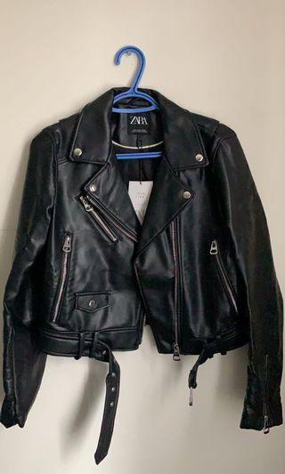 Brand new Zara leather jacket