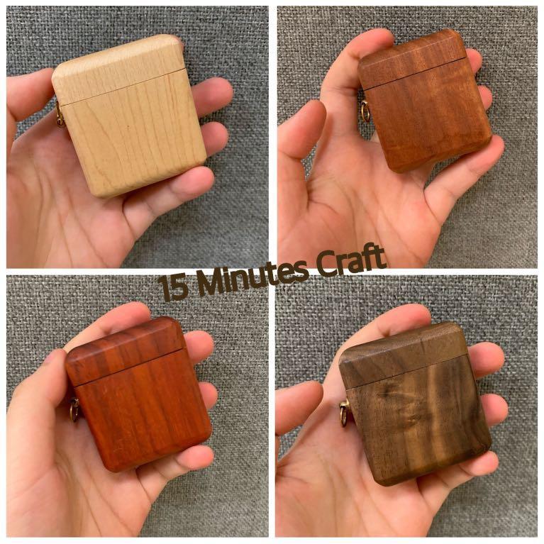 免費刻名/圖案 木製AirPods Case 木製產品 木製保護套 保護殻 蘋果耳機 Apple AirPods Case Free Engraving