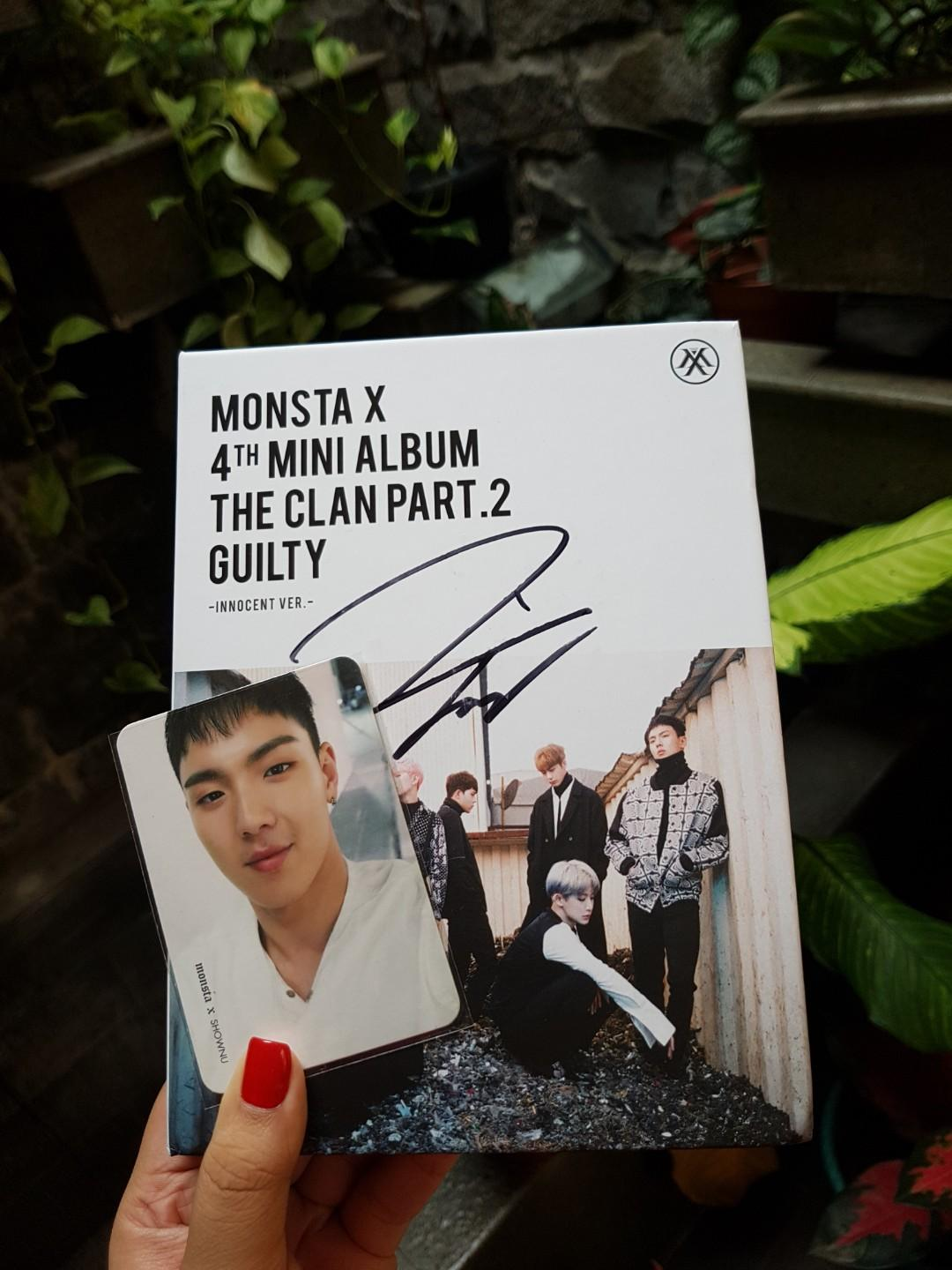 Album Monsta X The Clan Part.2 Guilty: Innocent Ver (Jooheon Sign)