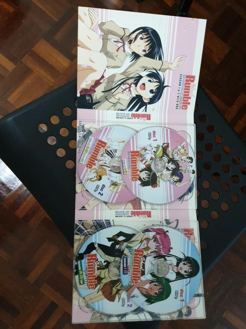 [Anime DVD] School Rumble Season 1&2 with OVA with Japanese audio and Chinese, English Subtitles
