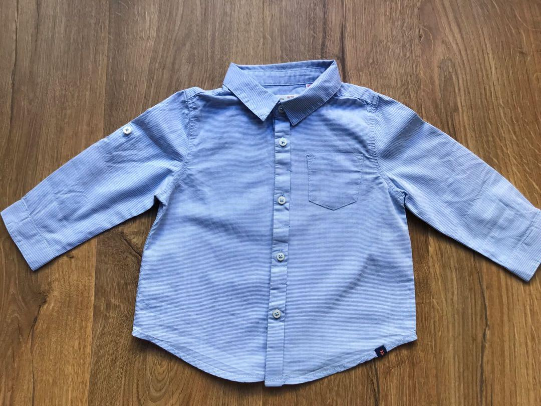 Baby Boy Long Sleeve Shirt Size 0 & 1 months Bundle