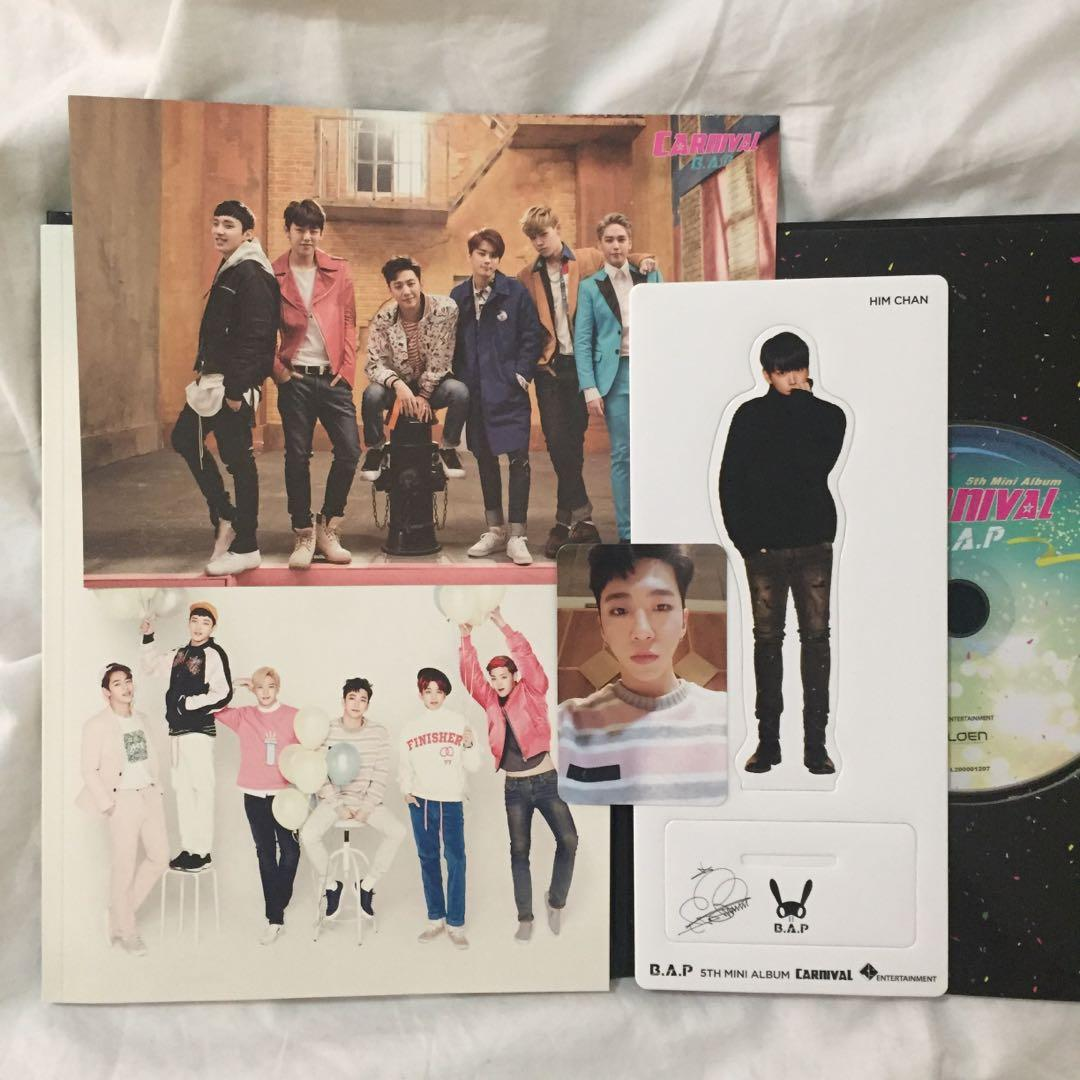 ❗️B.A.P Carnival (Autographed/Signed by all members) (Special ver.) Kpop Album CD + Photobook + Yongguk photocard + Haechan standee